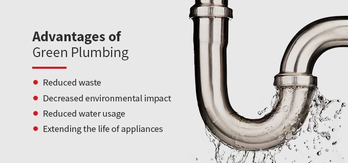 a list of the advantages of green plumbing