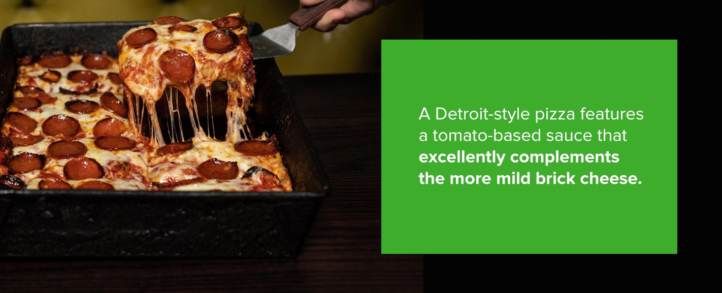 Detroit Style Pizza with Mild Brick Cheese