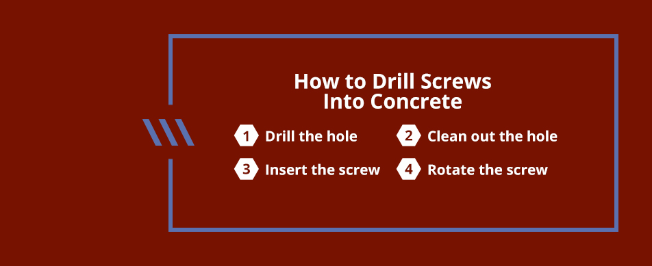 how to drill concrete screws