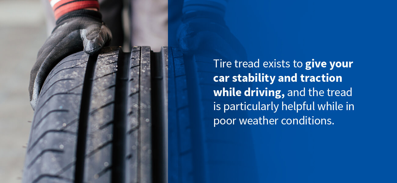 Why do Tires have treads