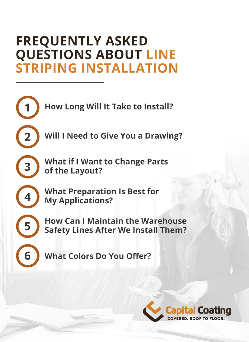 Frequently asked questions about line striping installation