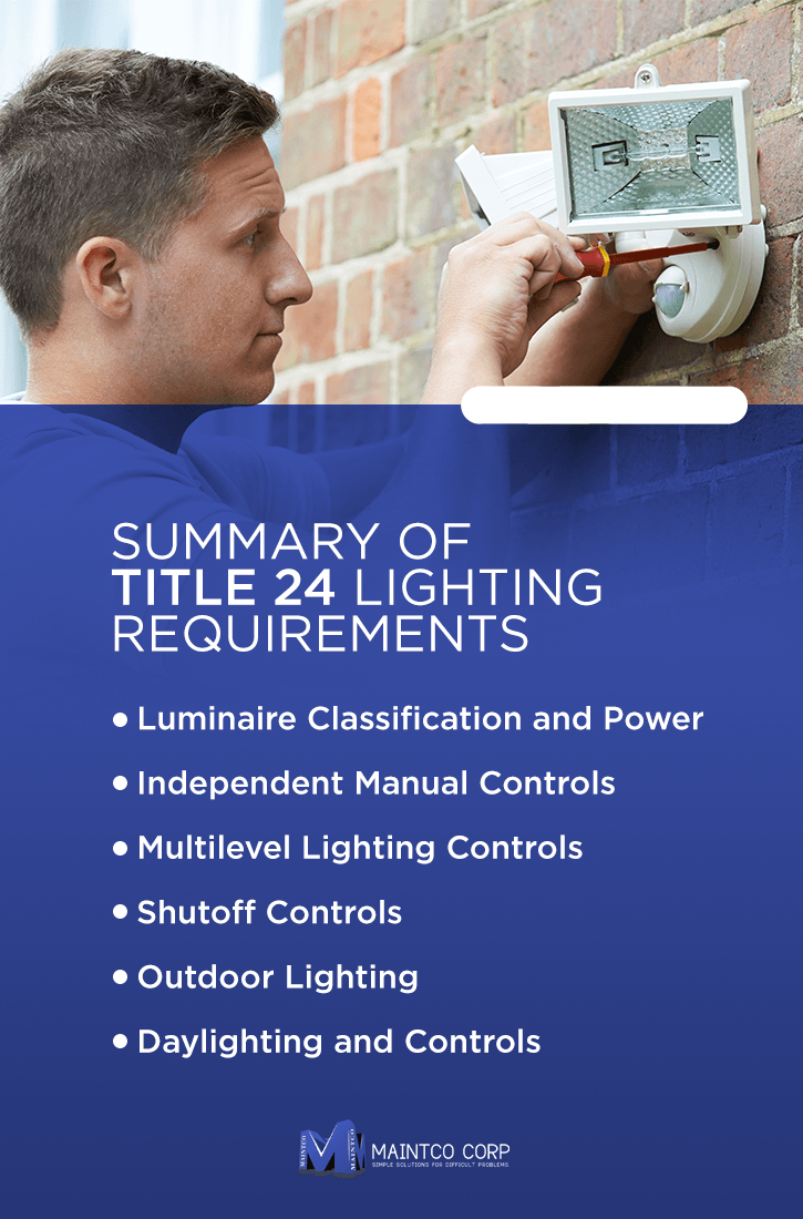 Summary of Title 24 lighting requirements