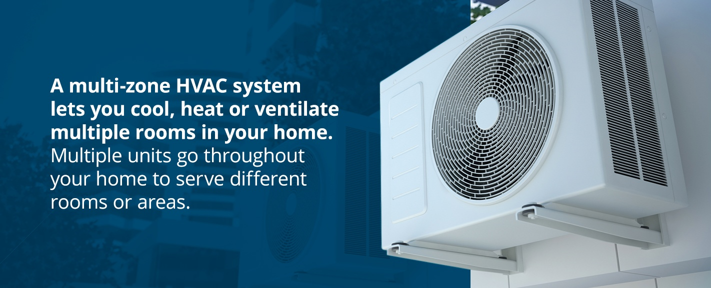 A multi-zone HVAC system lets you cool, heat or ventilate multiple rooms in your home