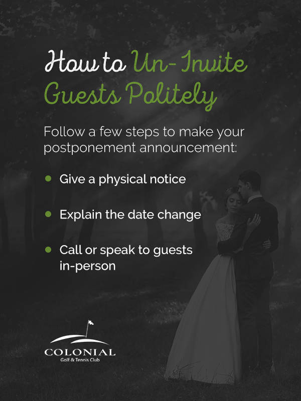 04 How to un invite guests politely pinterest - What to Do If Your Wedding Is Postponed
