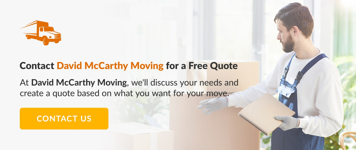 Contact David McCarthy Moving for Free Quote. Click to Contact Us!