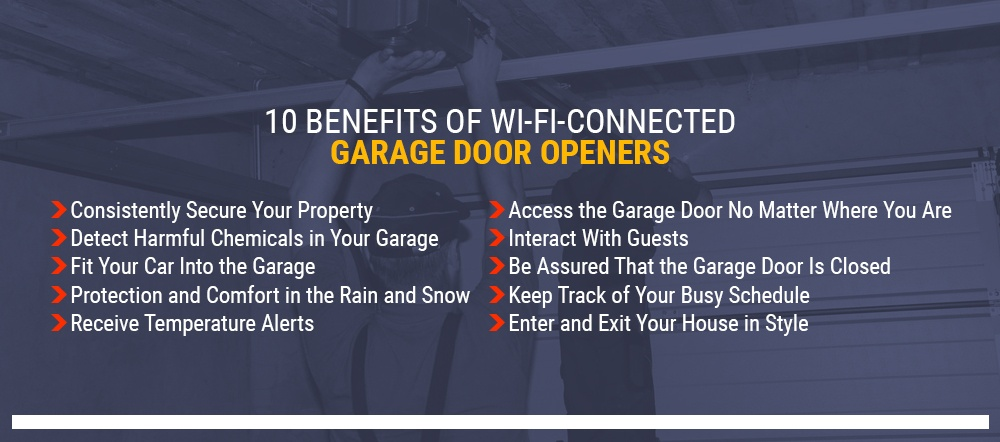 10 Benefits of WiFi connected garage door openers