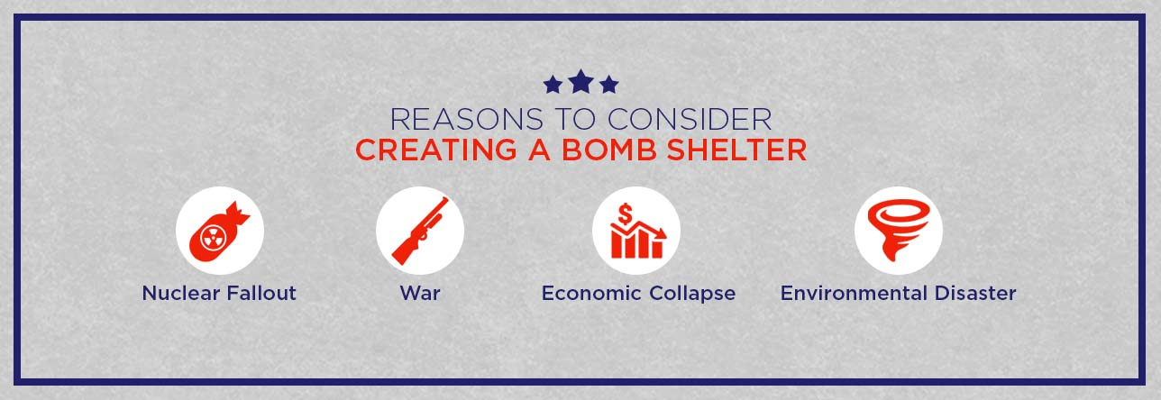 A list of reasons to consider a bomb shelter